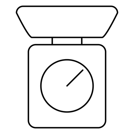 Kitchen scale stroke icon Transparent PNG