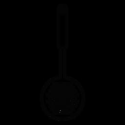 Ícone de traçado de skimmer de cozinha