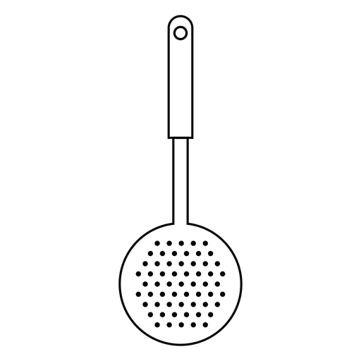 Ícone de traçado de skimmer de cozinha Transparent PNG