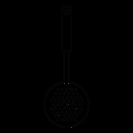 Kitchen skimmer stroke icon Transparent PNG