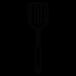 Ícone de traçado de espátula de cozinha