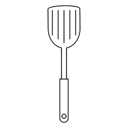 Kitchen spatula stroke icon