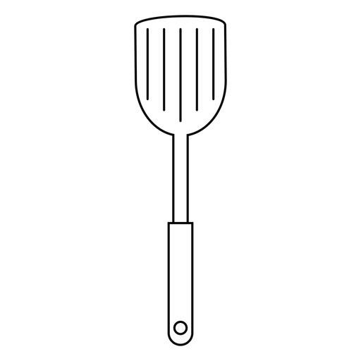 Ícone de traçado de espátula de cozinha Transparent PNG