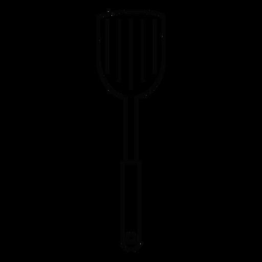 Icono de trazo de espátula de cocina Transparent PNG
