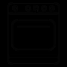 Icono de trazo de cocina estufa