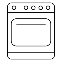 Kitchen stove stroke icon