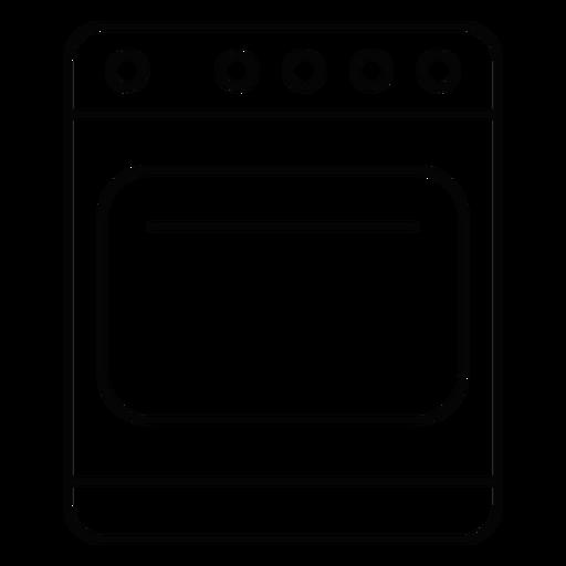 Ícone de traçado de fogão de cozinha Transparent PNG