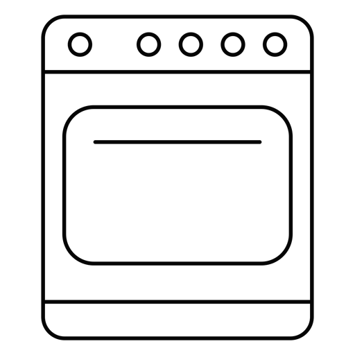 Kitchen stove stroke icon Transparent PNG