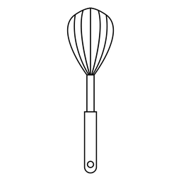 Kitchen whisk stroke icon