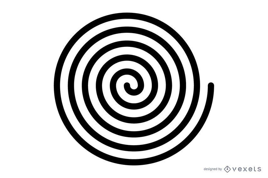 Schwarzer Spiralvektor