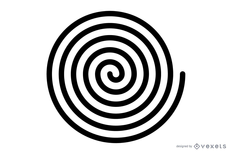 Black spiral vector