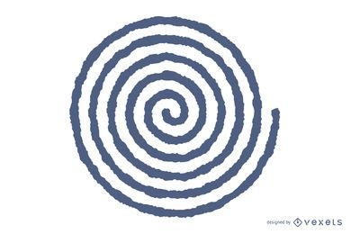 Blurred spiral vector