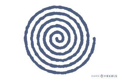 Vetor espiral borrado