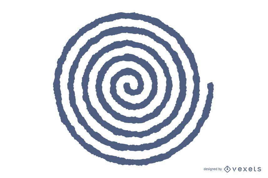 Verschwommene Spirale Vektor