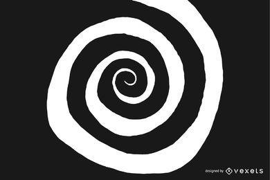Unregelmäßige Spiralform