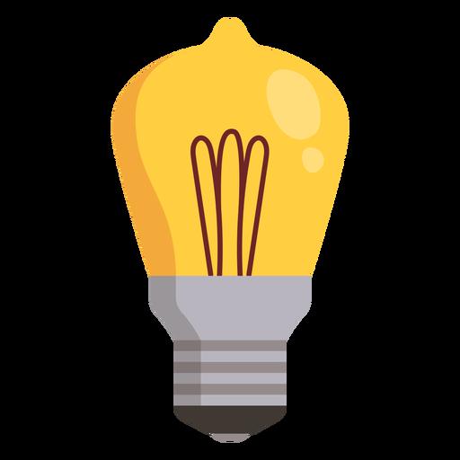 Icono de bombilla Transparent PNG