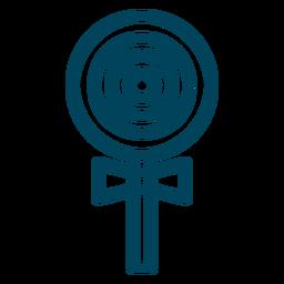 Ícone de traçado de pirulito