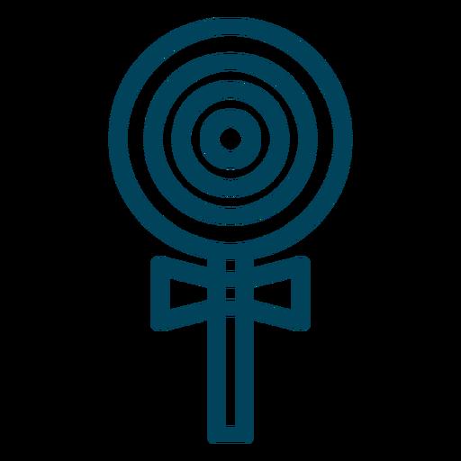 Lollipop stroke icon Transparent PNG