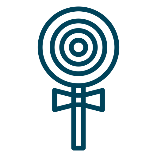 Lutscher-Strich-Symbol Transparent PNG