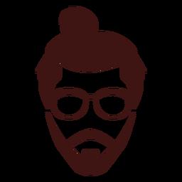 Mann Brötchen-Symbol
