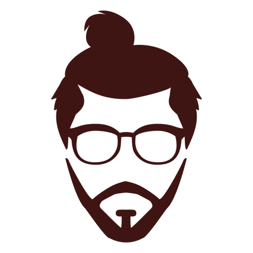 Man bun icon Transparent PNG