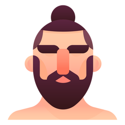 Man bun illustration