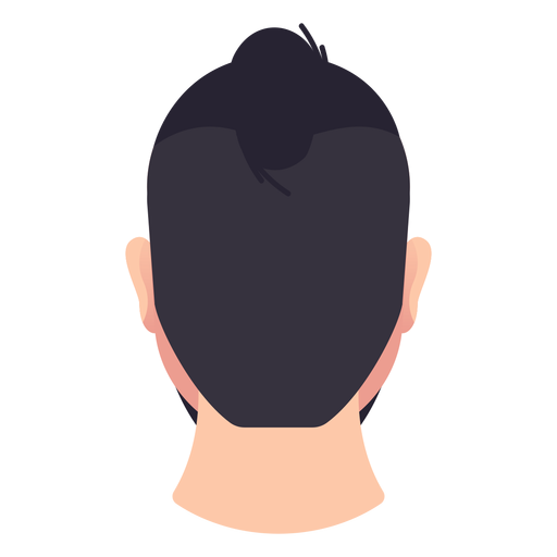 Man bun rear view Transparent PNG