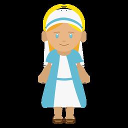 Ilustración de personaje de María