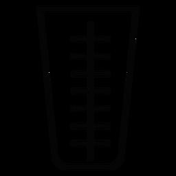 Ícone de traço de Copa de medição
