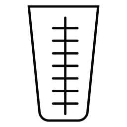 Measuring cup stroke icon