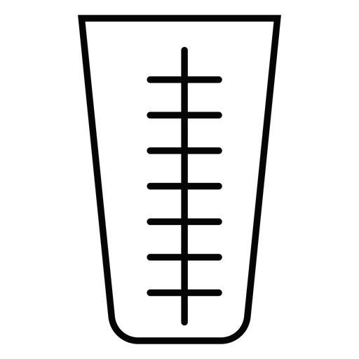 Measuring cup stroke icon Transparent PNG
