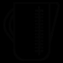 Ícone de traço de jarro de medição