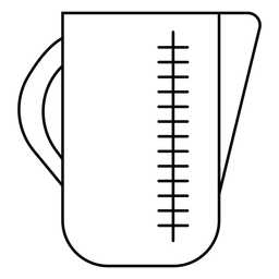 Measuring jug stroke icon