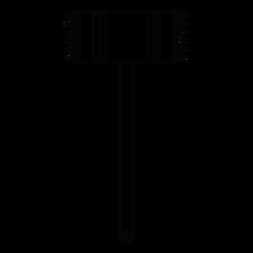 Meat tenderizer stroke icon