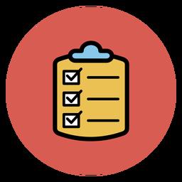 Ícono de lista de verificación médica