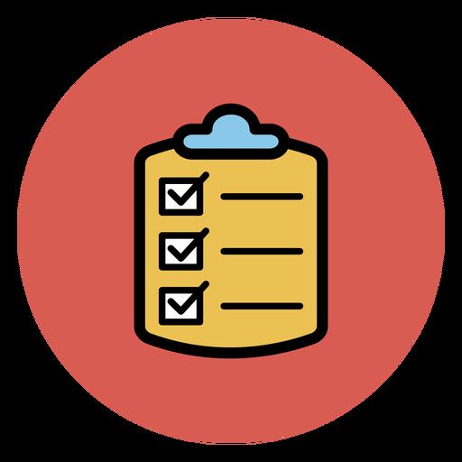 Icono de lista de verificación médica Transparent PNG