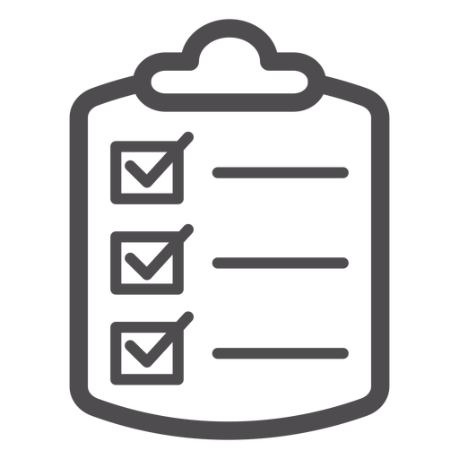 Ícone de traço de lista de verificação médica Transparent PNG