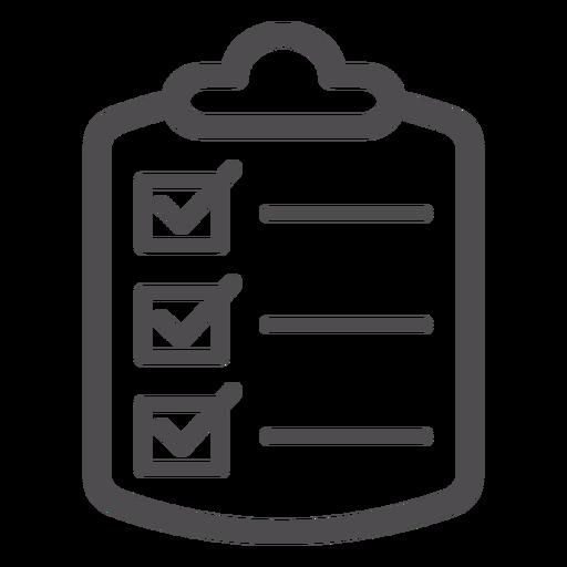 Icono de trazo de lista de comprobación médica Transparent PNG