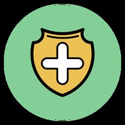 Ícone de crachá cruz médica