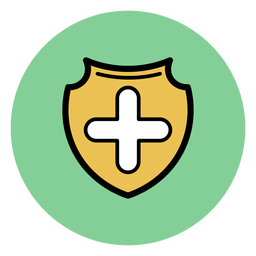 Medical cross badge icon