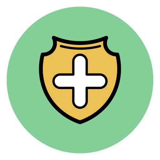 Medical cross badge icon Transparent PNG