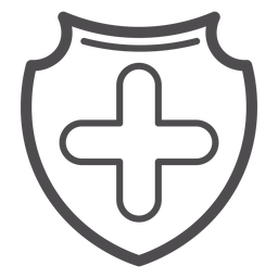Medical cross badge stroke icon