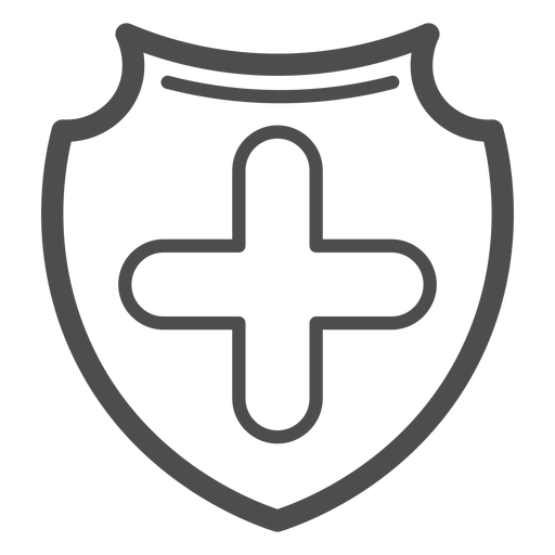 Medical cross badge stroke icon