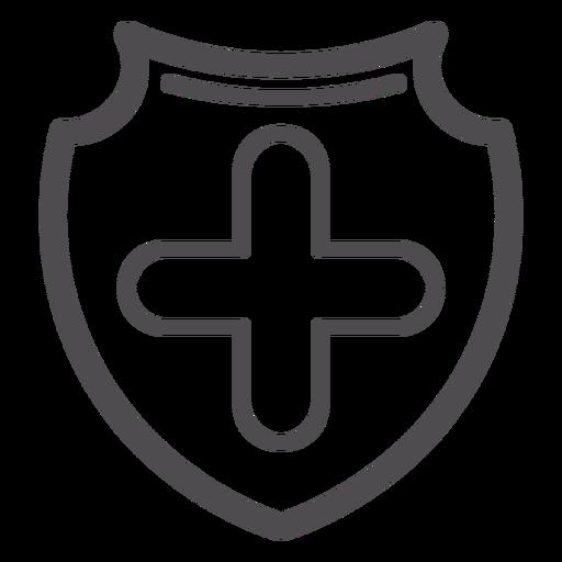 Medizinische Cross-Abzeichen-Strich-Symbol Transparent PNG