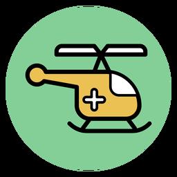 Icono de helicóptero médico