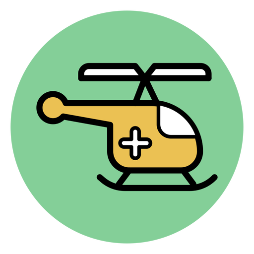 Icono de helicóptero médico Transparent PNG