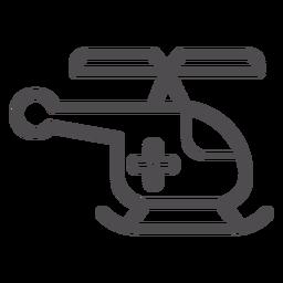 Icono de trazo de helicóptero médico