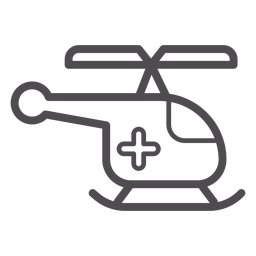 Medical helicopter stroke icon