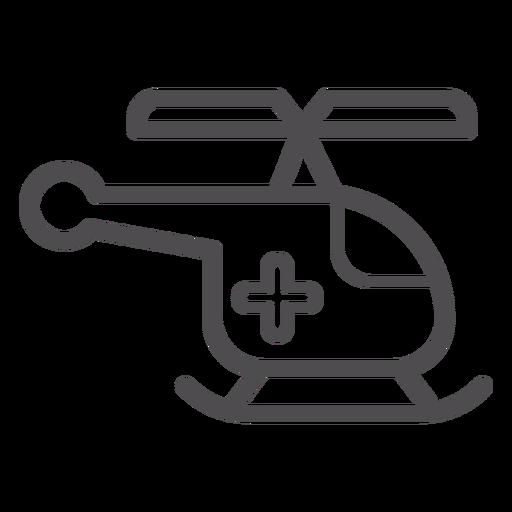 Icono de trazo de helicóptero médico Transparent PNG