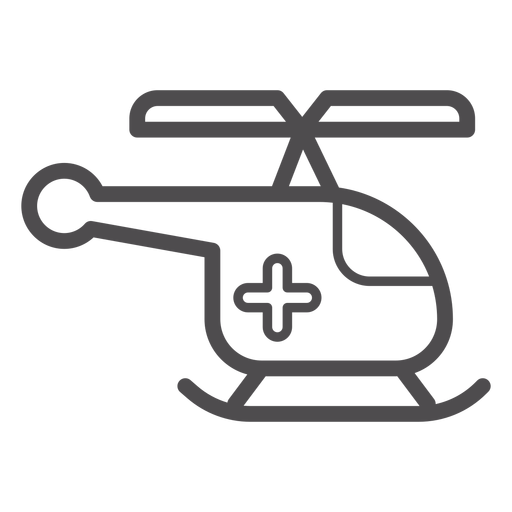 Medical helicopter stroke icon Transparent PNG